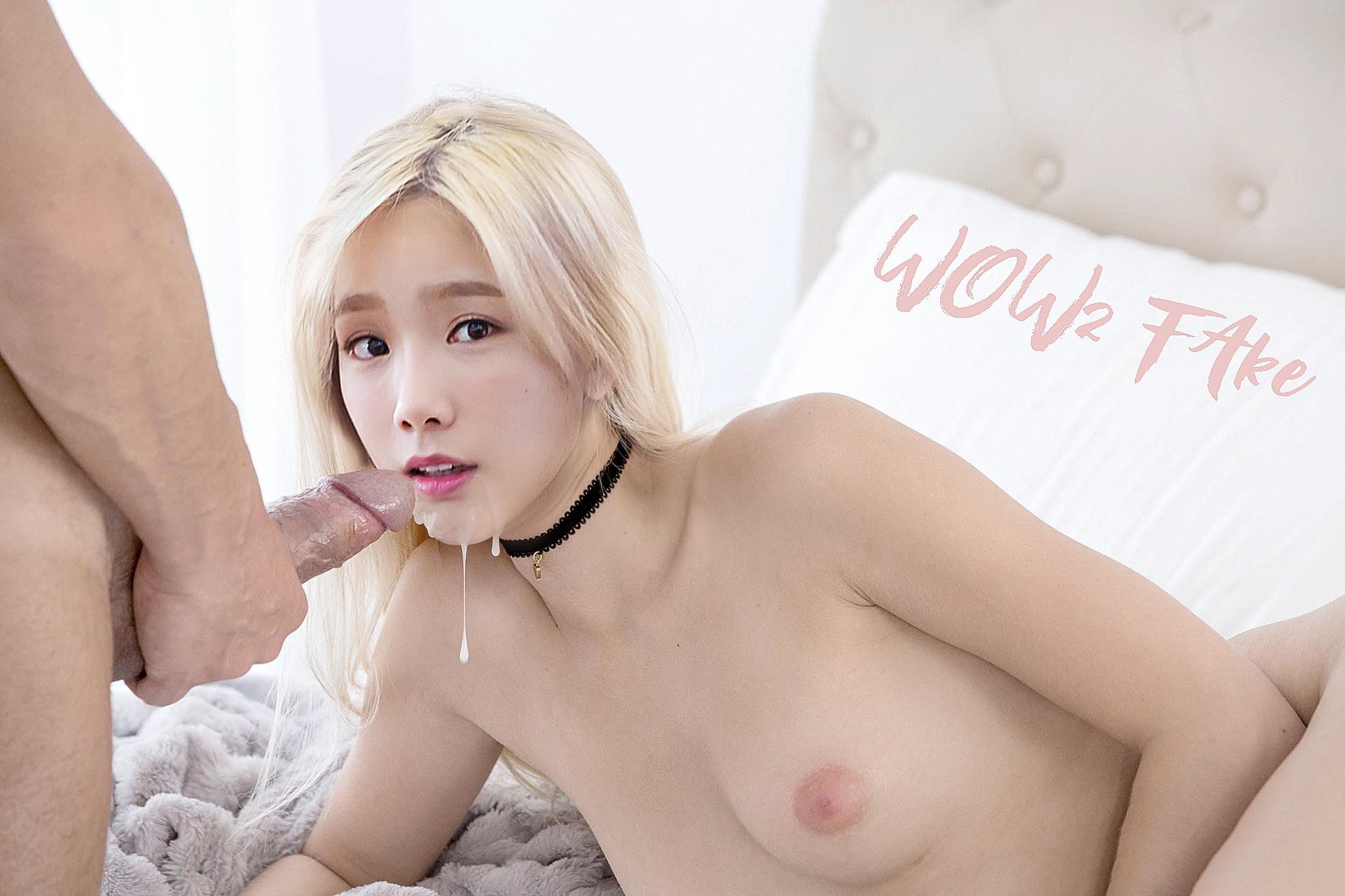 Taeyeon squirt fake america